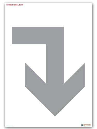 Arrow right - Floor Marking Stencils