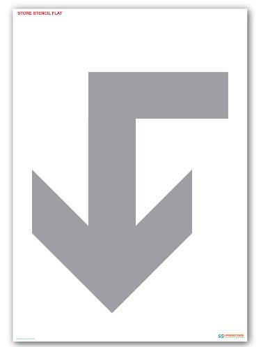 Left Arrow - Floor Marking Paint Stencils