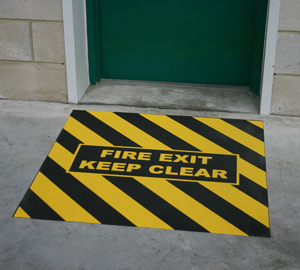Fire Exit Floor Sign Anti Slip Easy To Install And Cost
