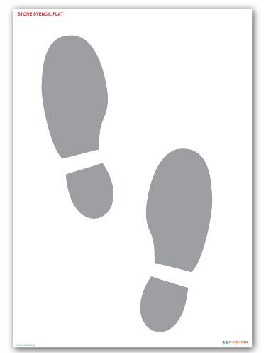 Foot Steps Floor Marking Paint Stencil