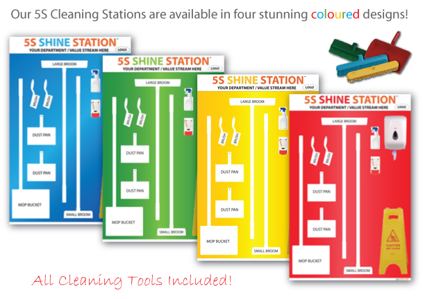5s Cleaning Shadow Boards Gold Edition Cleaning Tools