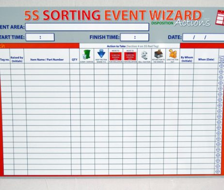 5S Sort Event Wizard Board