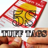 5S Red Tags Tough Tuff Tags
