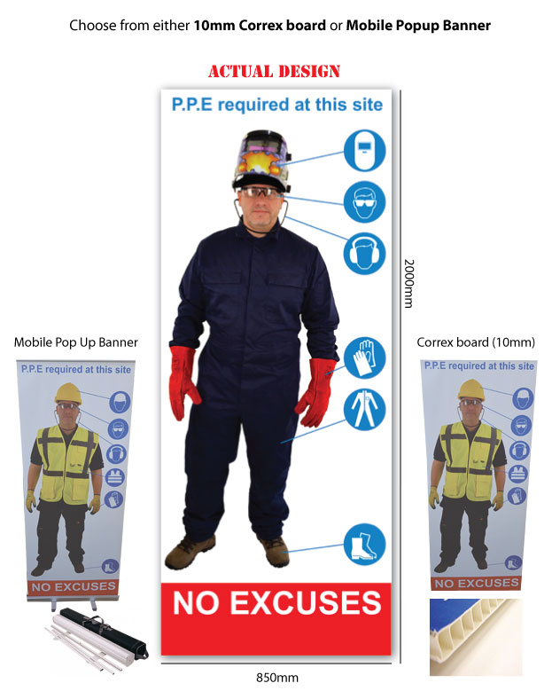 Life Size Personal Protective Equipment Workplace Safety